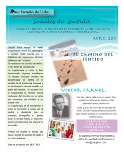 Boletin Logoterapia Abril 2011
