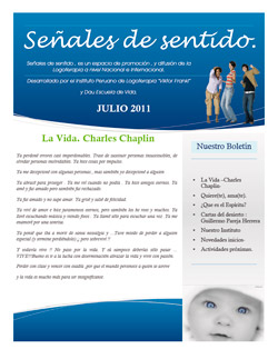 Boletin Logoterapia Julio 2011
